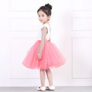 Cute Toddler Baby Girl Long Sleeve Top+Lace  Party Outfit Set Bowknot, zoerea.com
