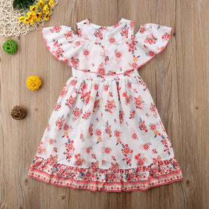 Baby Toddler Kids Girl Floral Casual Dress Baby Girl Toddler Kids Dress, zoerea.com