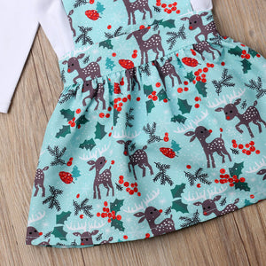 Xmas Toddler Baby Girl Clothes Romper Bodysuit Jumpsuit Floral Outfits, zoerea.com