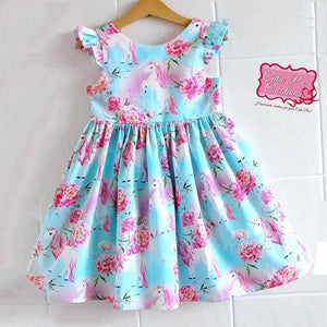 Summer Kids Girls Poppy Trolls Sleeveless Dress Party Vest Dresses, zoerea.com