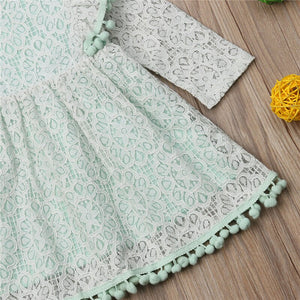 Toddler Baby Girl Autumn Lace Kids Long Sleeve Princess Party Dress, zoerea.com