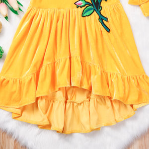 Girls Kids Summer Flower Clothes Outfits Princess Casual Tutu Dress, zoerea.com