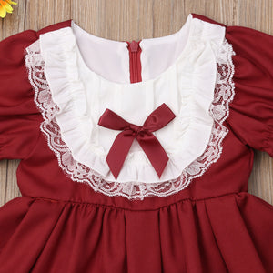Toddler Kids Baby Girls Lace Party Pageant Bridesmaid Formal Dress, zoerea.com