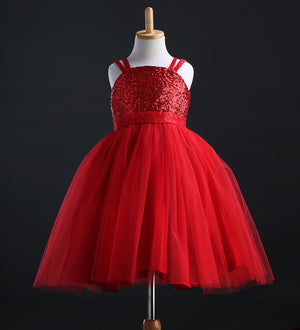 Kids Baby Girls Princess Sequins Party Gown Formal Bridesmaid Dresses, zoerea.com