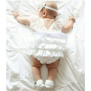 New Kids Baby Girl Clothes Cute Lace Floral Romper Jumpsuit Outfits, zoerea.com