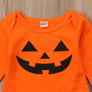 Halloween Newborn Baby Boy Girl Clothes Set Romper Striped Outfit, zoerea.com