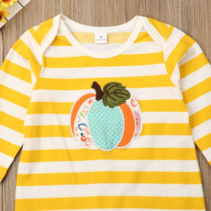 Newborn Baby Girl Boy Halloween Clothes Pumpkin Romper Jumpsuit - zoerea.com