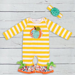 Newborn Baby Girl Boy Halloween Clothes Pumpkin Romper Jumpsuit, zoerea.com