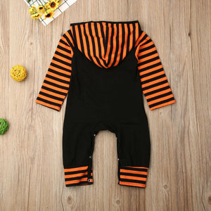 Toddler Baby Boy Girl Clothing Halloween Hooded Romper Stripe Jumpsuit, zoerea.com