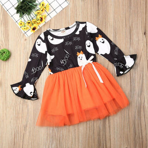 Baby Girls Kid Halloween Party Gown Clothes Sets Long Sleeve Dress, zoerea.com