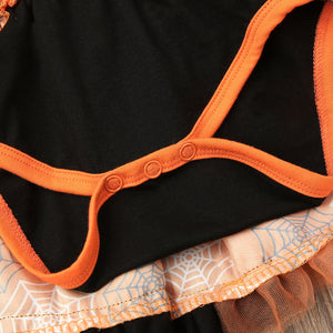 Newborn Baby Girls Long Sleeve Halloween Gown Outfits Pumpkin Skirt, zoerea.com