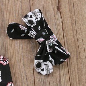 Halloween Infant Baby Boy Girl Skull Romper Sleeveless Cotton Jumpsuit, zoerea.com