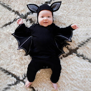 Halloween Newborn Baby Boys Girls Bat Cosplay Costume Romper Outfits, zoerea.com
