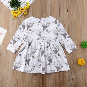 Christmas Infant Kid Baby Girl Costume Party Floral Long Sleeve Dress, zoerea.com