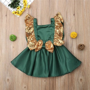 Baby Girl Sequins Bowknot Wedding Party Christmas Princess Dresses, zoerea.com