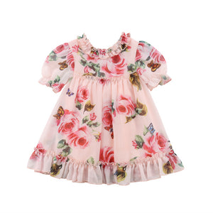 Cute Kids Baby Girls Floral Party Pageant Tulle Formal Tutu Dress, zoerea.com