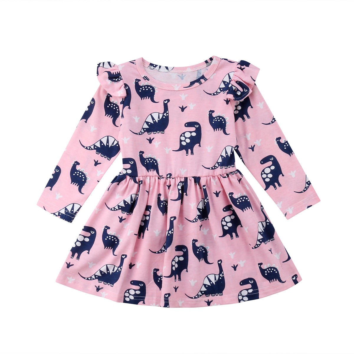 Toddler Kid Baby Girl Scale Dinosaur Princess Dress Pageant Party Costume Outfit