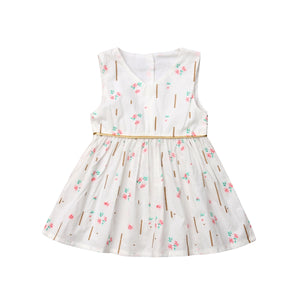 Baby Girl Flower Sleeveless Party Pageant Lace Summer Tutu Dress, zoerea.com