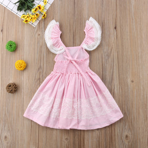 Toddler Baby Girls Sweet Sleeveless Tutu Party Tull Princess Dress, zoerea.com
