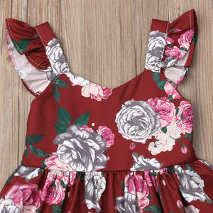 Lovely Kids Baby Girl Flower Lace Princess Party Pageant Dress, zoerea.com