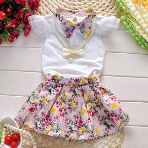 Baby Kids Girls Cute Cotton Summer Clothes Fashion Floral Casual Dress, zoerea.com