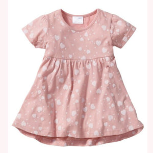 Kids Infant Baby Girls Love Heart 100% Cotton Princess Party Dress, zoerea.com