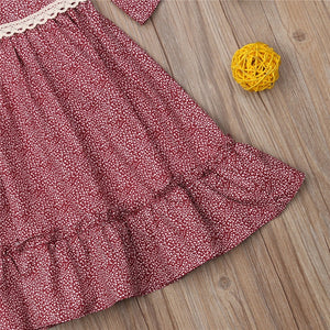 Baby Kid Girls Summer Long Sleeve Dress Party Pageant Princess Dress, zoerea.com