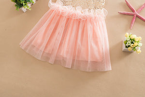 Princess Kids Baby Girl Dress Sequins Tulle Dress Gown Party Dresses, zoerea.com
