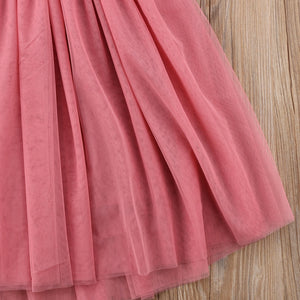 Kids Girl Lace Flower Maxi Long Princess Party Gown Formal Dress, zoerea.com