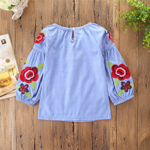 Baby Kids Girls Summer Denim Clothes Jeans Shirt Dress Girl Denim Dress, zoerea.com