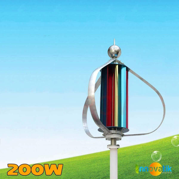 Éoliennes Verticales Savonius simple 200w - WINCOLOR - Innovatik Boutique