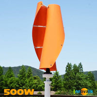 Éolienne Verticale Savonius hélicoïdale 500w orange - VAWT - Innovatik Boutique