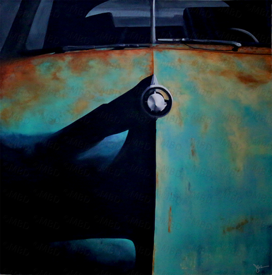 Patina Car 5'x5' Original Painting