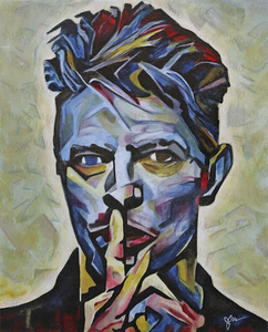 "David Bowie 16""x20"" Original Painting"