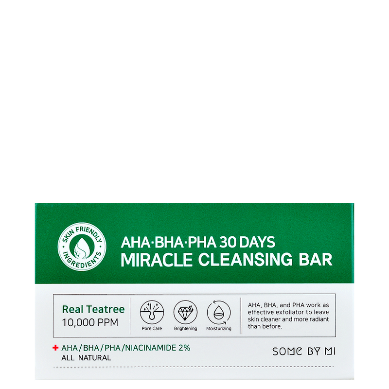 SOME BY MI AHA BHA PHA 30 Days Miracle Cleansing Bar -- Shop Korean Japanese Taiwanese Skincare at Shopchuusi.com