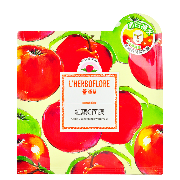 L'HERBOFLORE Apple C Whitening Hydromask | Shop Taiwanese Sheet Mask at ShopChuusi.com