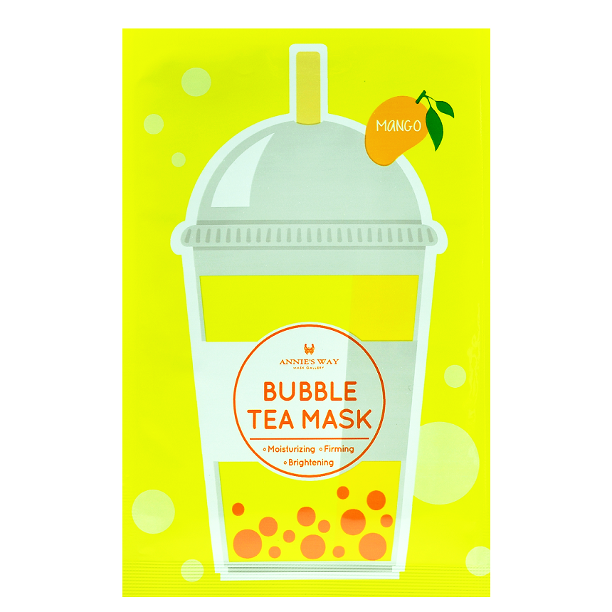 ANNIE'S WAY Mango Bubble Tea Mask | Shop Taiwanese Sheet Mask at ShopChuusi