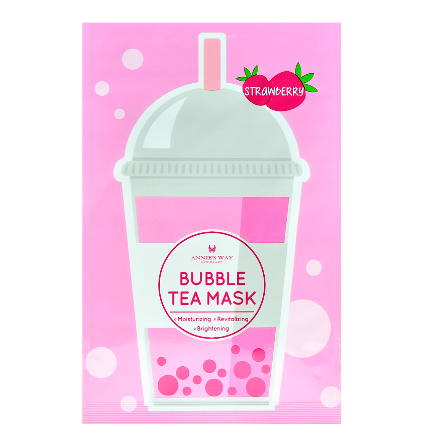 ANNIE'S WAY Strawberry Bubble Tea Mask | Shop Taiwanese Sheet Mask at ShopChuusi
