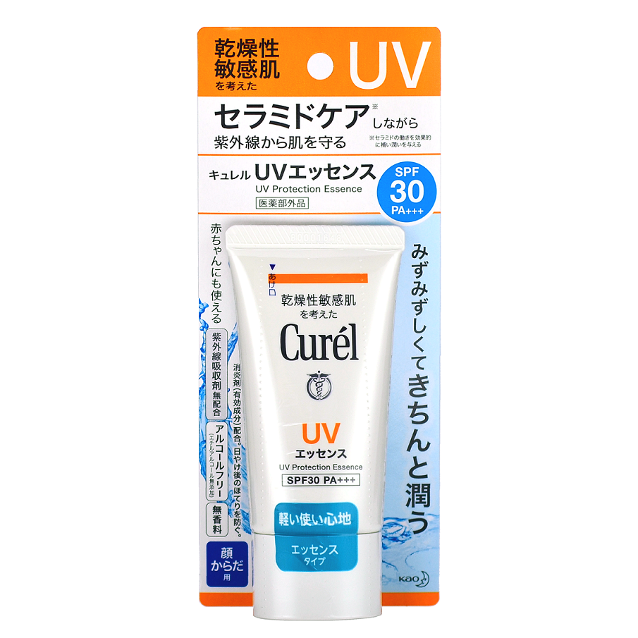 KAO CUREL UV Protection Essence SPF 30 PA+++ -- Shop Korean Japanese Taiwanese Skincare at Shop Chuusi