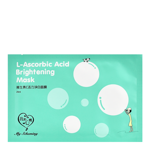 MY SCHEMING L-Ascorbic Acid Brightening Mask | Shop Taiwanese Sheet Mask at ShopChuusi
