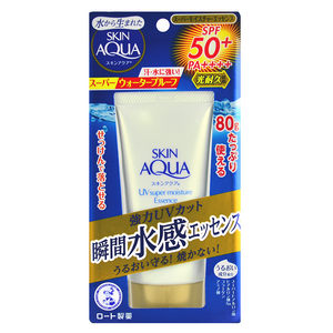 ROHTO MENTHOLATUM SKIN AQUA UV Super Moisture Essence SPF50+ PA++++ -- Shop Korean Japanese Taiwanese Sunscreens at Shop Chuusi