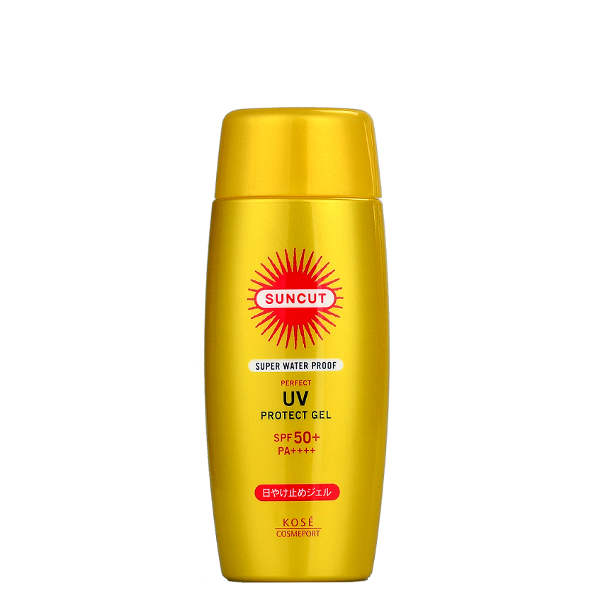 KOSE Suncut Super Waterproof Perfect UV Protect Gel SPF50+ PA++++ | Shop Kose Japanese Sunscreen at ShopChuusi
