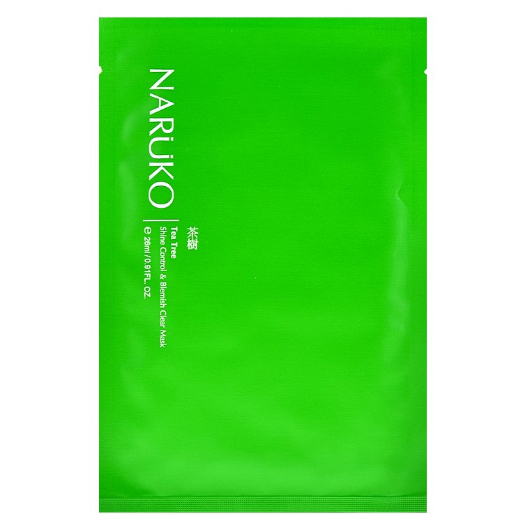 NARUKO Tea Tree Shine Control & Blemish Clear Mask | Shop Taiwanese Sheet Mask at ShopChuusi