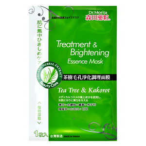 DR.MORITA Tea Tree & Kakorot - Treatment & Brightening Essence Mask | Shop Taiwanese Sheet Mask at ShopChuusi