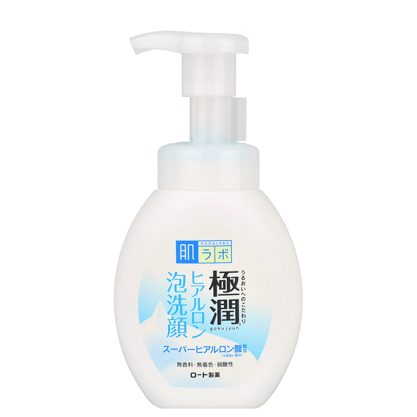 HADA LABO Gokujyun Super Hyaluronic Acid Foam Cleanser | Shop Hada Labo Japanese Skincare at ShopChuusi
