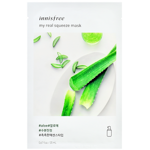 INNISFREE My Real Squeeze Mask - Aloe | Shop Korean Skincare at ShopChuusi