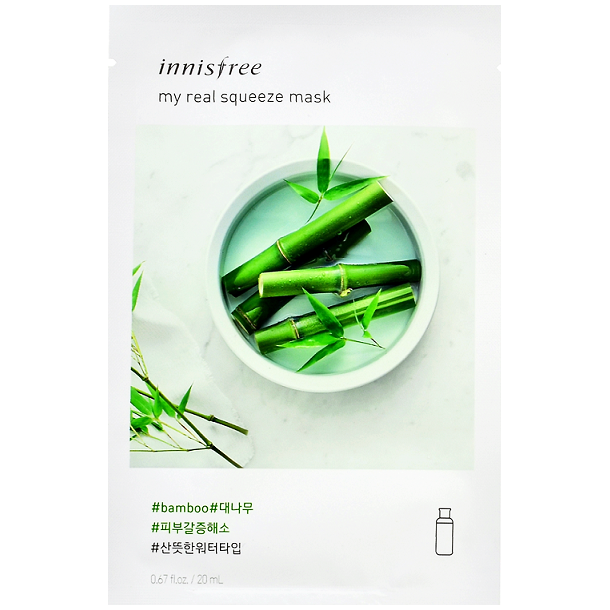 INNISFREE My Real Squeeze Mask - Bamboo | Shop Korean Skincare at ShopChuusi