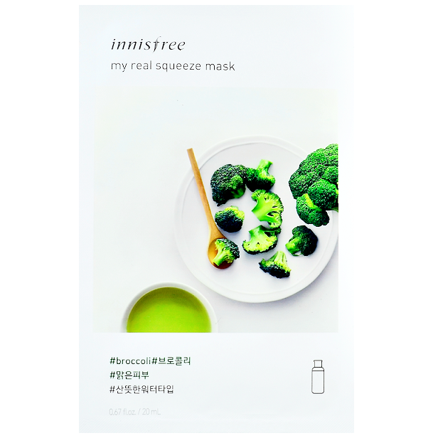 INNISFREE My Real Squeeze Mask - Broccoli | Shop Korean Skincare at ShopChuusi