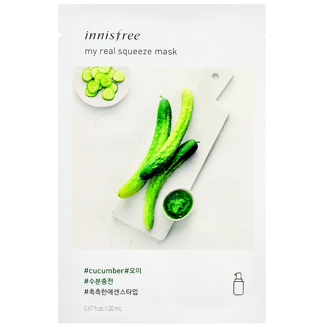 INNISFREE My Real Squeeze Mask - Cucumber | Shop Korean Skincare at ShopChuusi