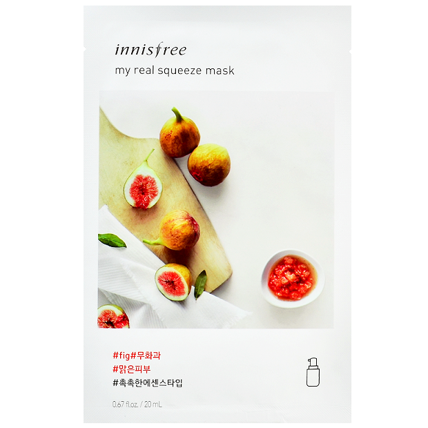 INNISFREE My Real Squeeze Mask - Fig | Shop Korean Skincare at ShopChuusi